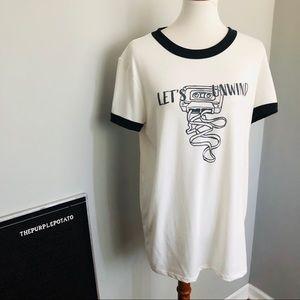 Lularoe Liv Let's Unwind Cassette Graphic T-shirt